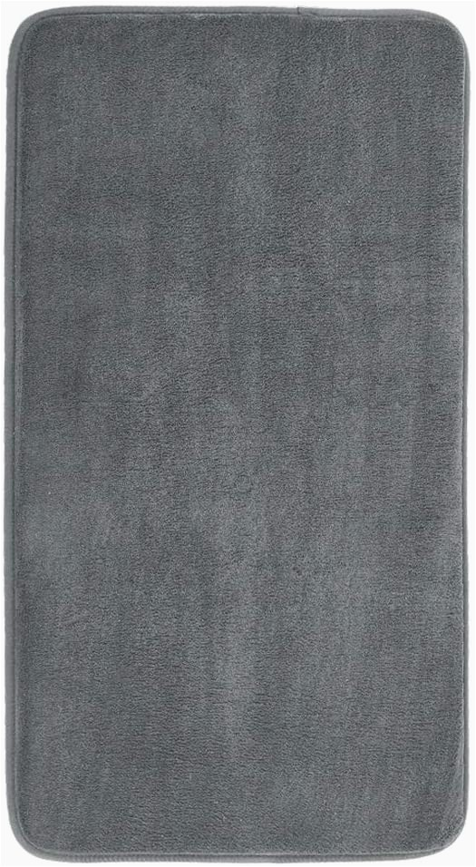 Best Memory Foam Bath Rugs Mayshine Memory Foam Bathroom Rugs Non Slip Water Absorbent Luxury soft Bath Mat 34×19 Inches Charcoal Gray