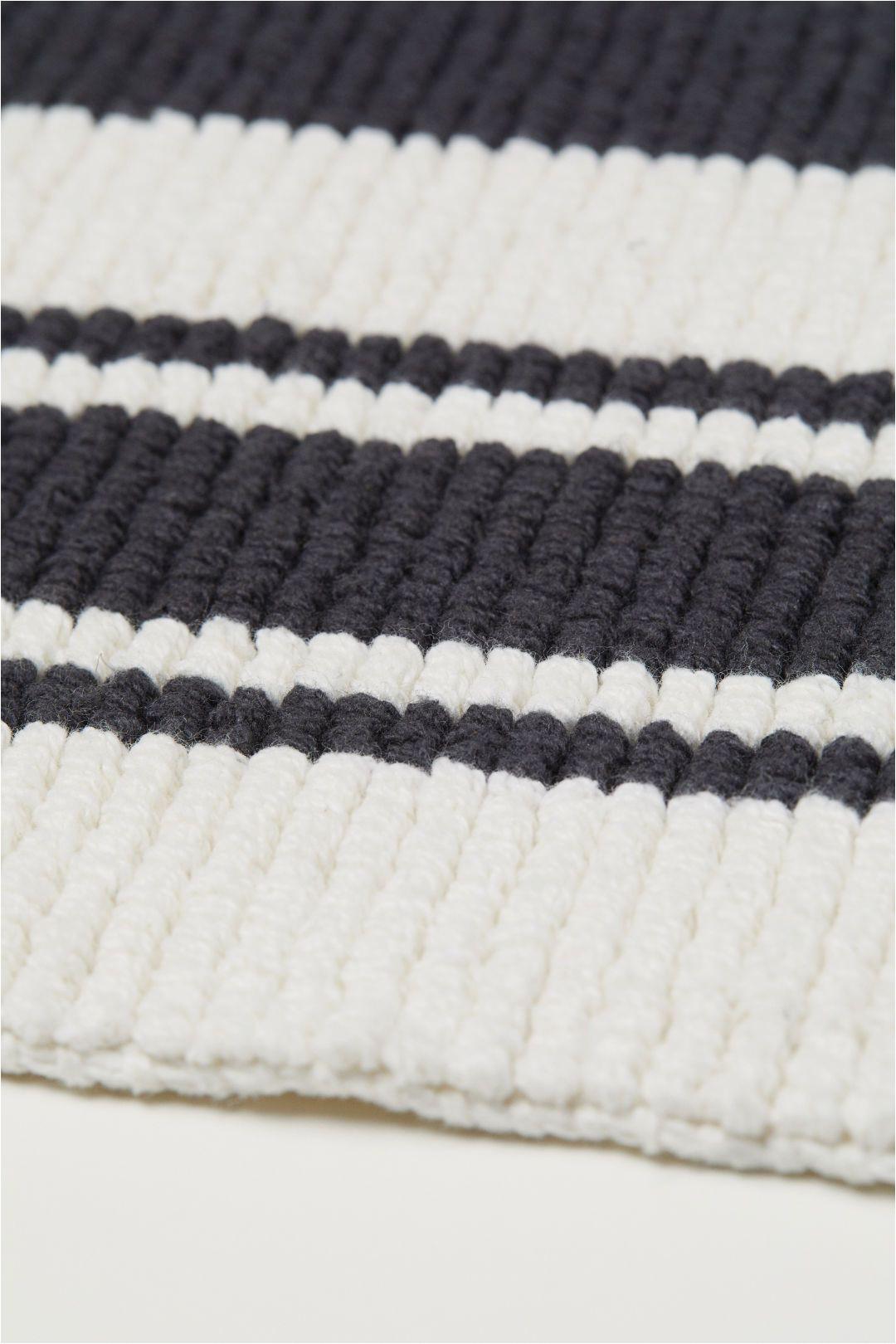Black and White Bathroom Rug Runner Striped Bath Mat White Black Striped Home All