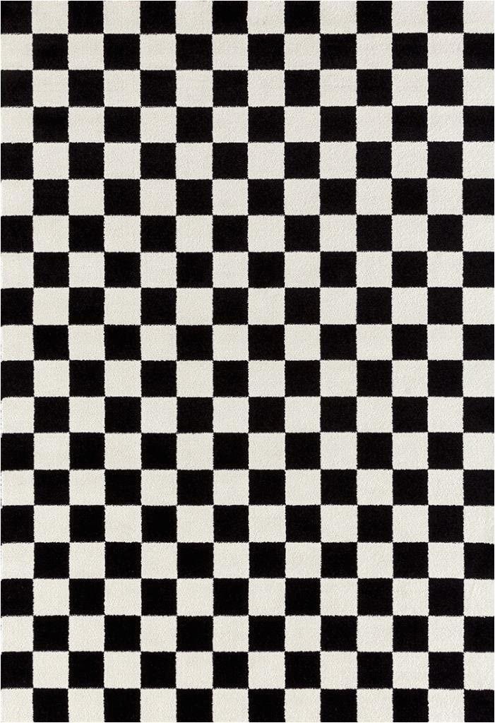 Black and White Checkered Bathroom Rug 1909 Checkered Black and White 5 X 7 area Rug Carpet