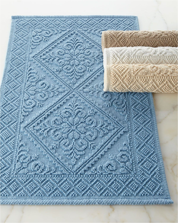 Blue and Beige Bathroom Rugs Estoril Bath Rug