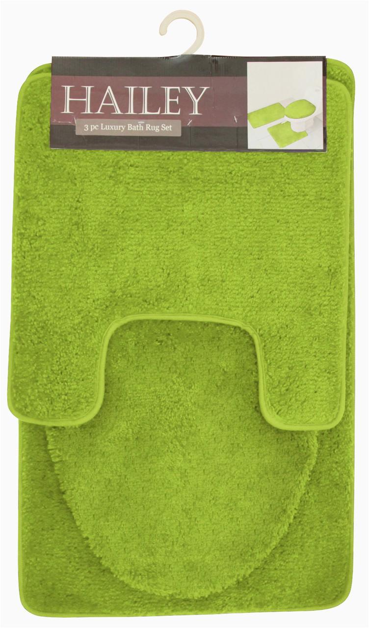 Cheap 3 Piece Bathroom Rug Sets Hailey 3 Piece Bathroom Rug Set Bath Mat Contour Rug toilet Seat Lid Cover [olive]