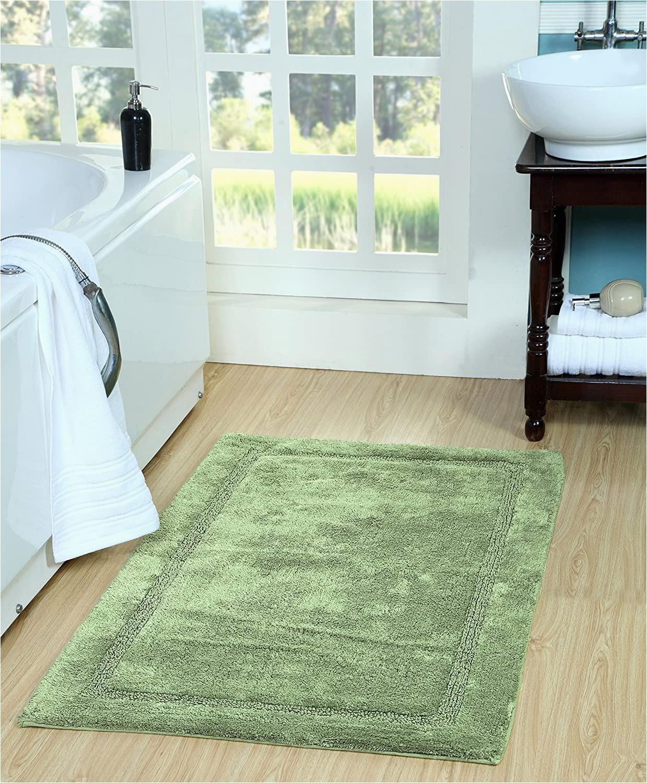 "Green Bathroom Rugs On Sale Saffron Fabs Regency Bath Rug 50"" X 30"" Sage Green"