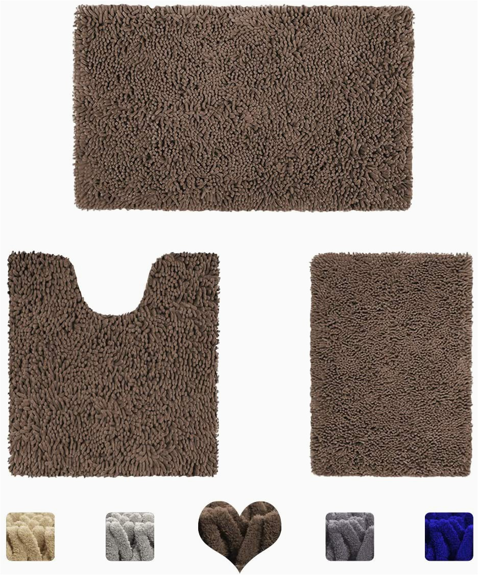 Light Brown Bathroom Rugs Amazon Homeideas Value 3 Pieces Bathroom Rugs Set Grey