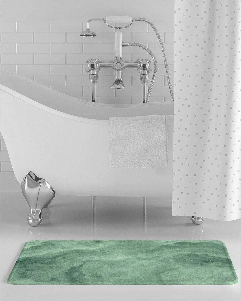 Light Green Bath Rug Green Marble Bath Mat Light Green Marble Bathroom Decor
