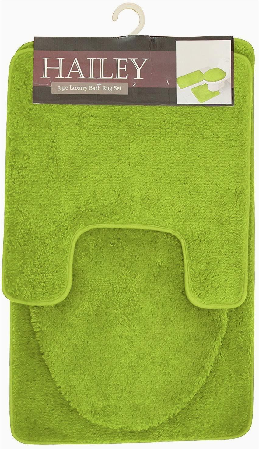 Lime Green Bathroom Rug Sets Hailey 3 Piece Bath Rug Set Lime