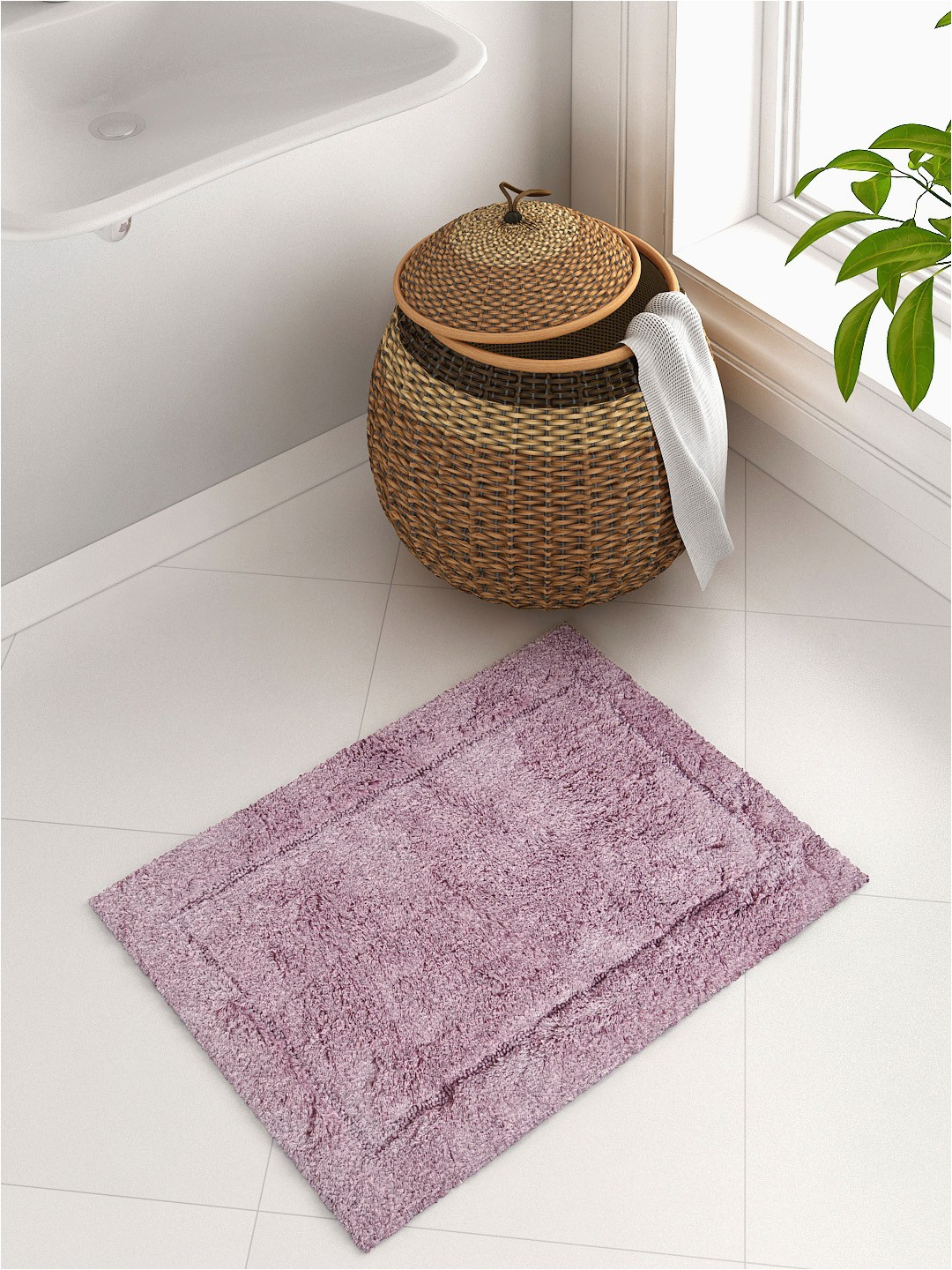 Mauve Bathroom Rug Sets Spaces Mauve Rectangular Hygro Cotton Bath Rug