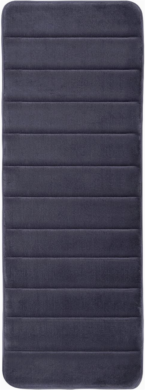 "Memory Foam Bathroom Rug Runner Kmat 47"" X 17"" Long Memory Foam Bath Mat Kitchen Mats Luxury soft Absorbent Bathroom Rugs Runner area Rug for Kitchen and Bathroom Grey"