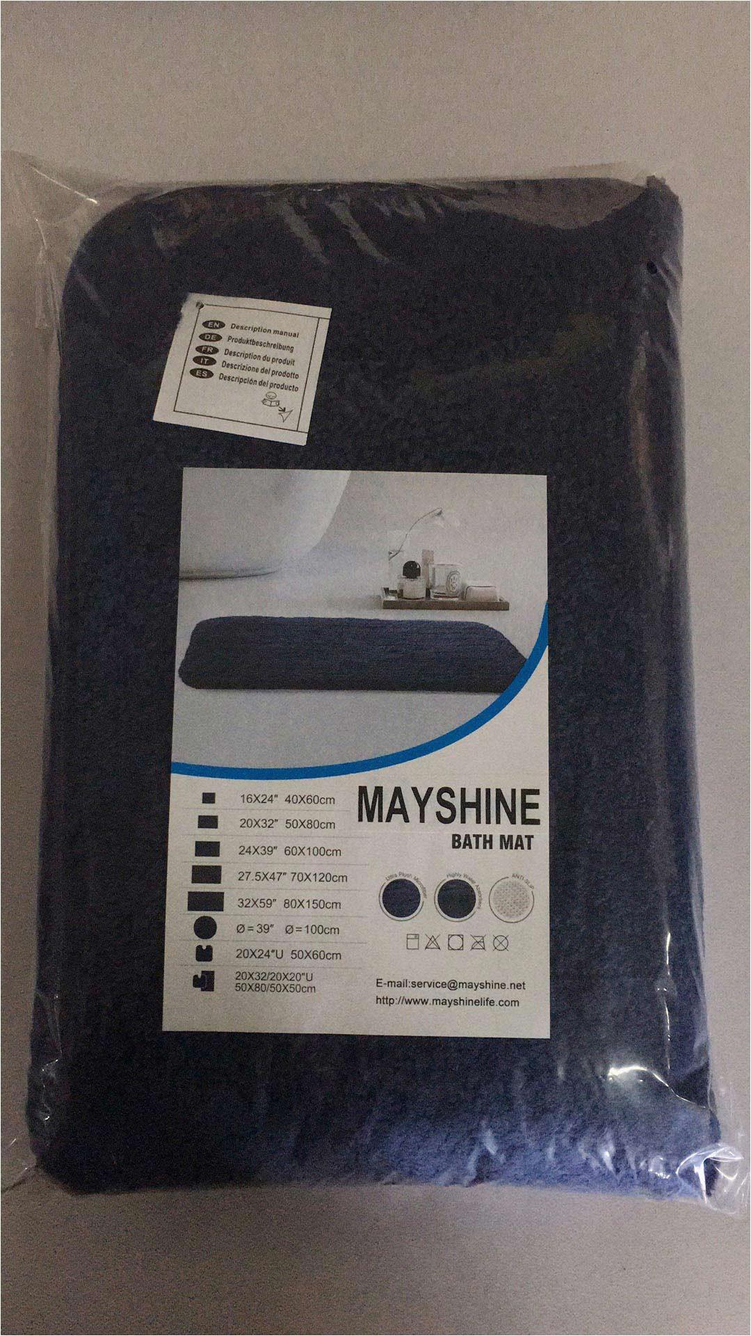Navy Blue Bathroom Rug Runner Mayshine Mayshine 20×32 Inch Non Slip Bathroom Rug Runner