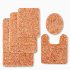 peach bathroom rugs 2