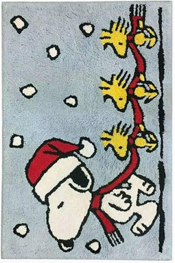 Snoopy Christmas Bathroom Rug Peanuts Worldwide Santa Snoopy and Woodstock Cotton Bath Rug 30 Inch X 20 Inch