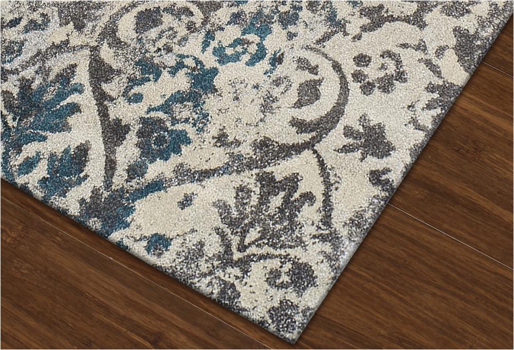 modern grey teal premium polypropylene rug p 1406