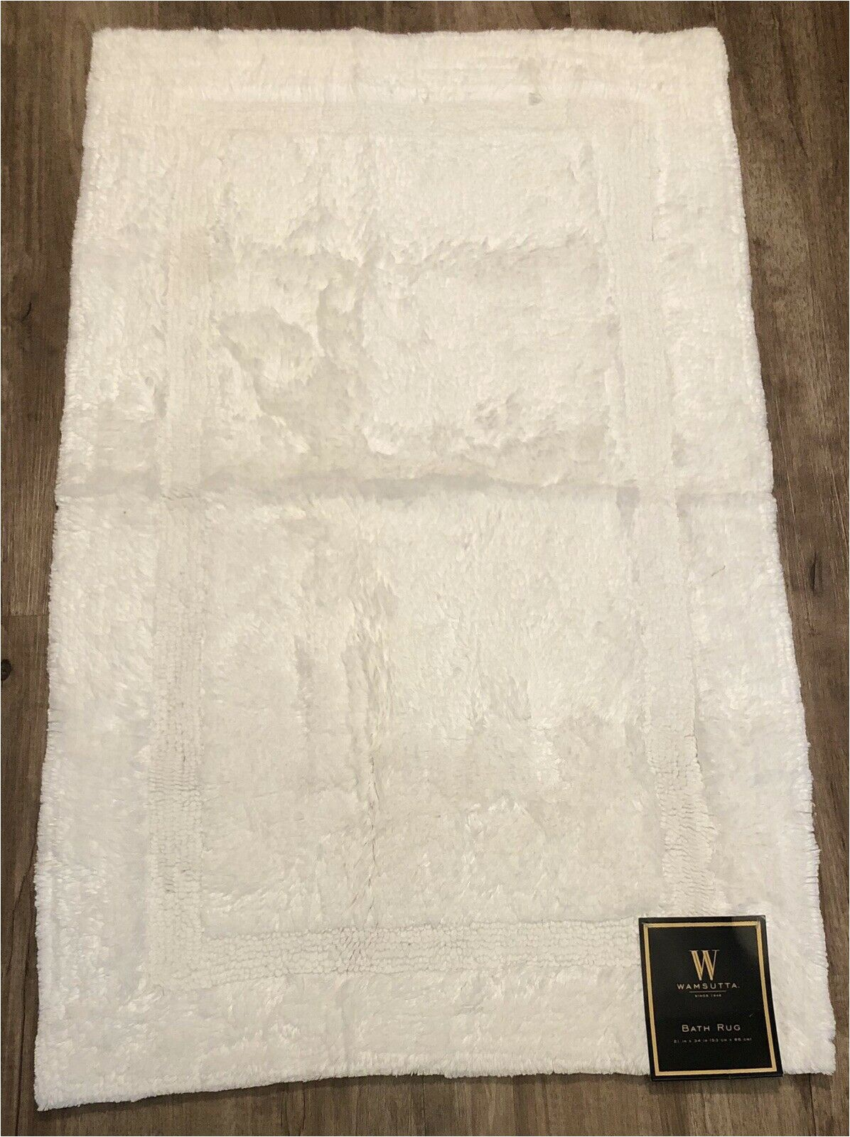 "Wamsutta Hotel Bath Rug Wamsutta Plush Hotel Spa Bath Rug Mat 21"" X 34"" In White Bed Bath & Beyond New"