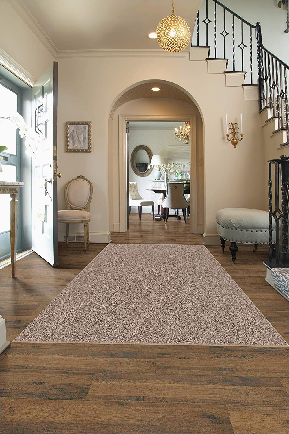 12 X 12 Square area Rug Square 12 X12 Indoor area Rug Oyster Bay 32oz Plush Textured Carpet for Residential or Mercial Use with Premium Bound Polyester Edges