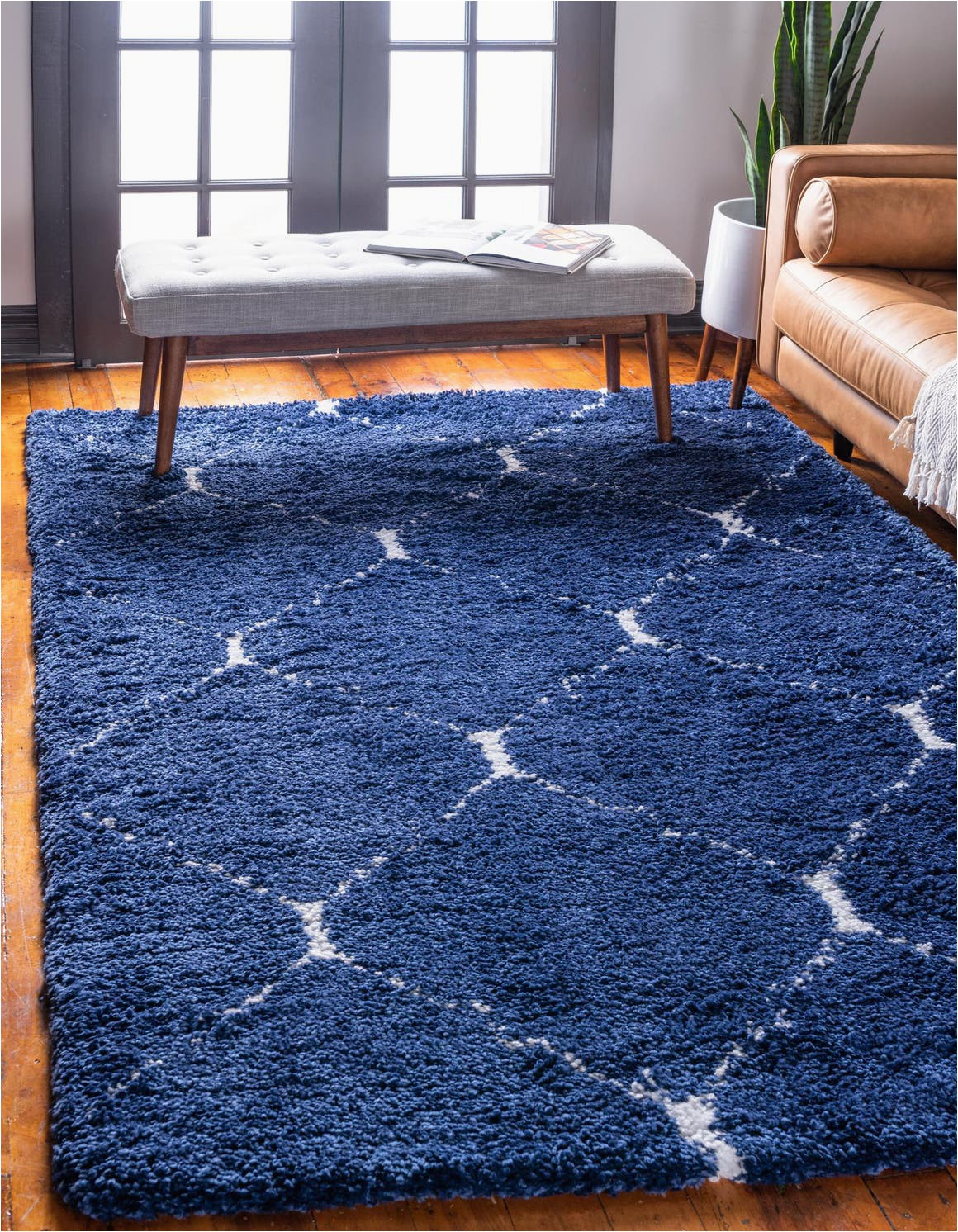 4 X 6 Navy Blue Rug 4 X 6 Marrakesh Shag Rug