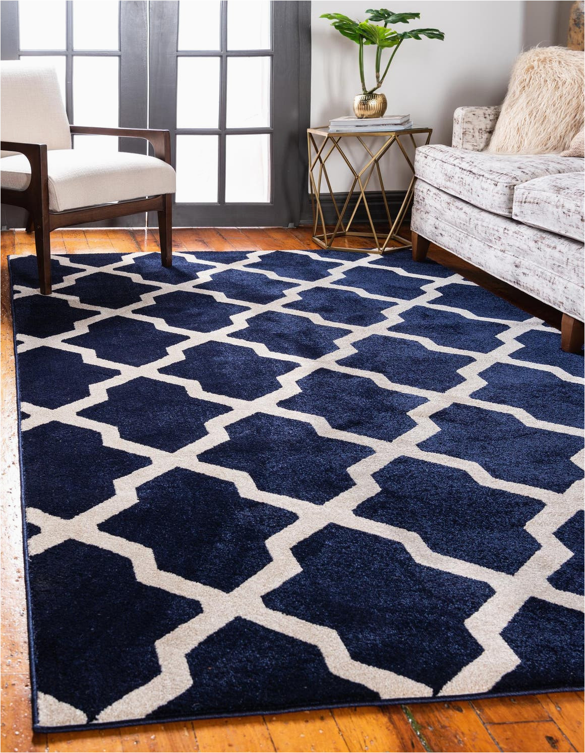 navy blue 5x8 lattice area rug 6232810