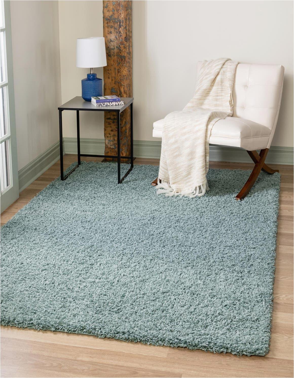 light slate blue 10x13 solid shag area rug 6255962
