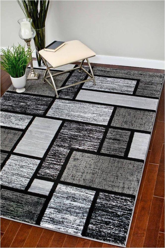 Black and Grey area Rugs 8×10 Rugs area Rugs Carpet Flooring area Rug Floor Decor Modern