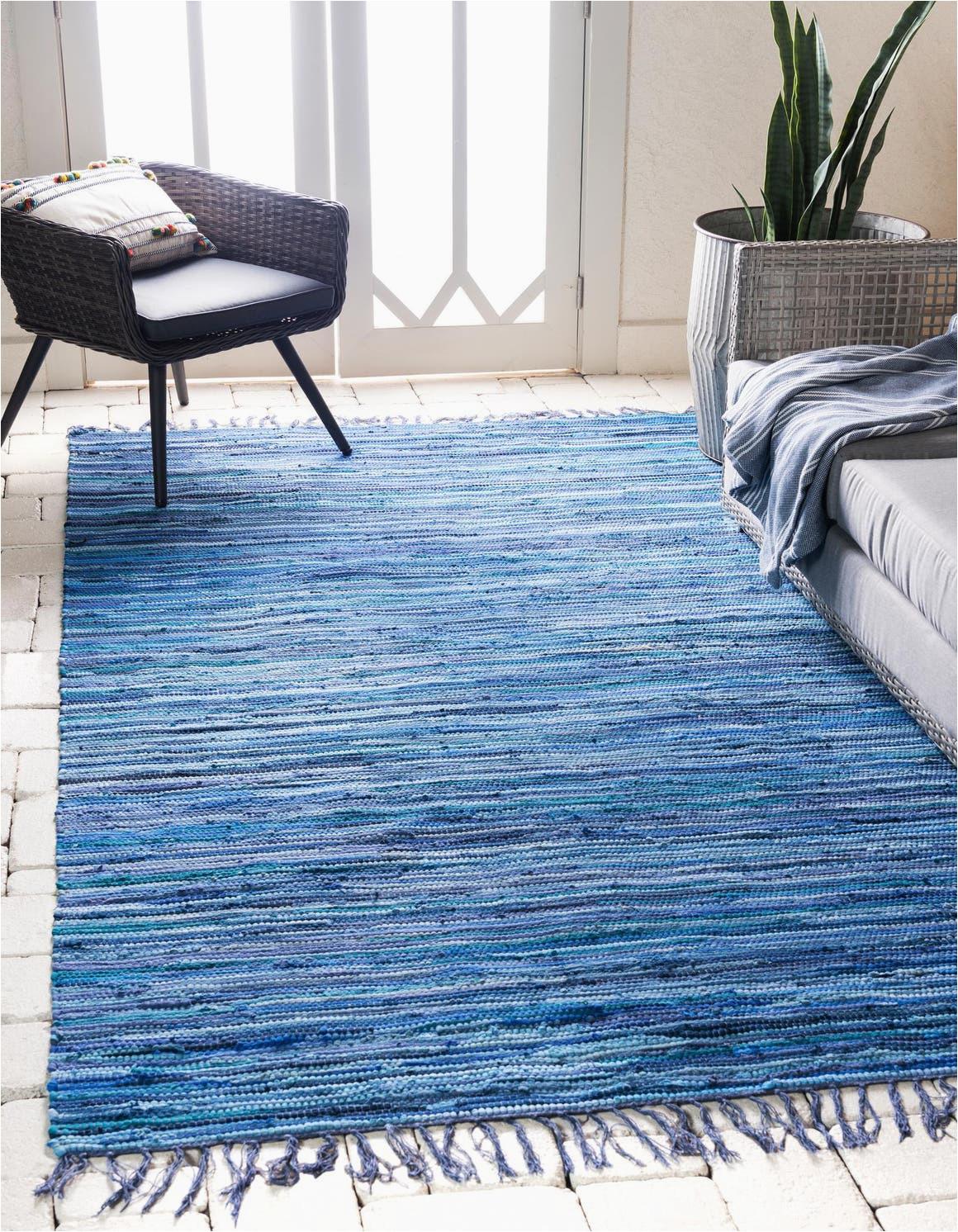 navy blue 4x6 chindi cotton area rug 33145252