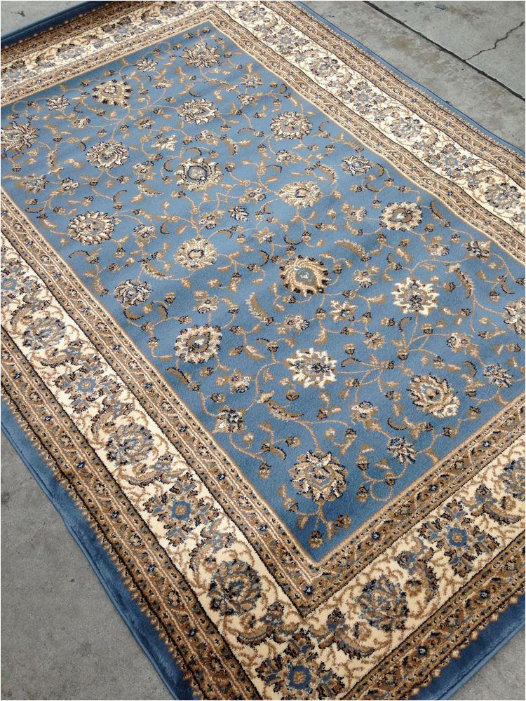 Blue 8×10 Outdoor Rug Light Blue Persian Style oriental area Rug 8×10 8 X 10