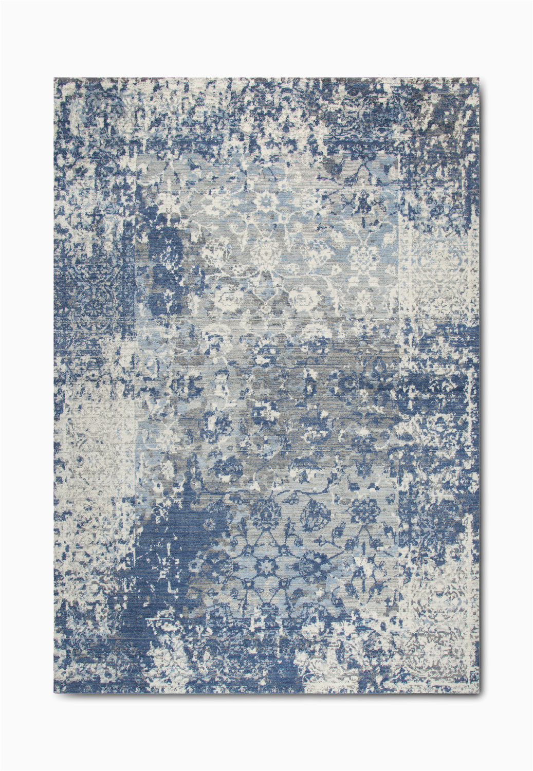 Blue and Gray Throw Rugs Gossamer Blue Grey area Rug