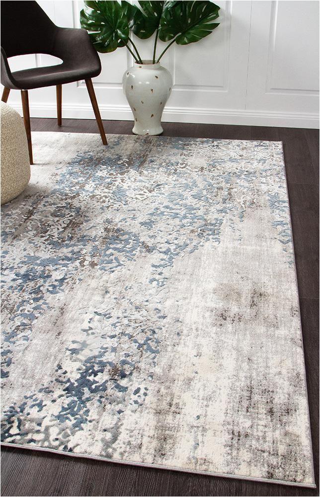 Blue and Grey Living Room Rugs Elizabeth 331 Grey Blue Beige Abstract Patterned Modern Rug
