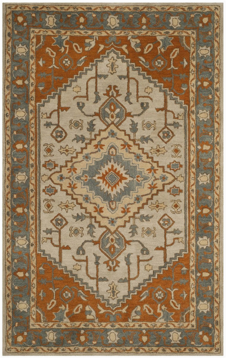 safavieh heritage hg406a light blue rust area rugx