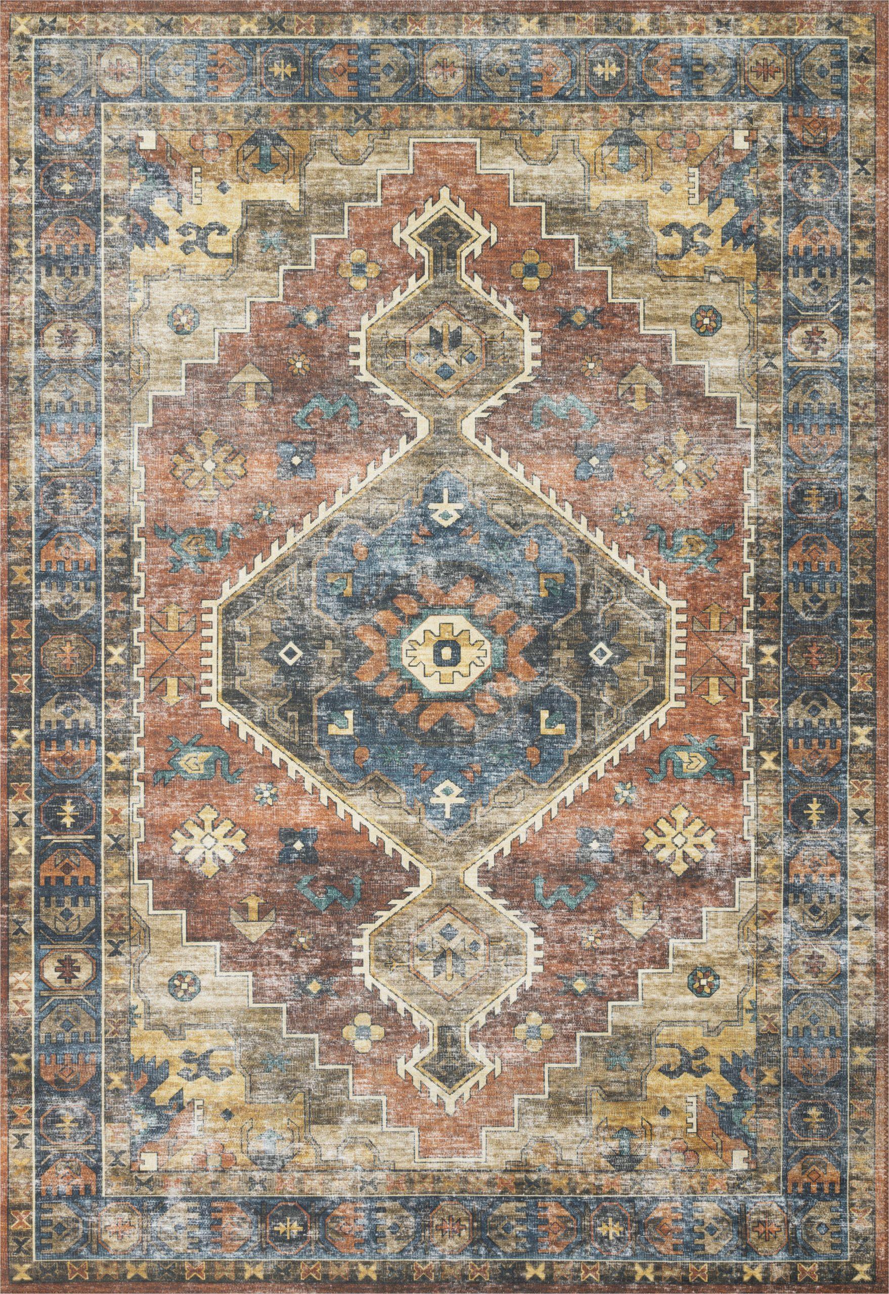 square oriental rustblue area rug
