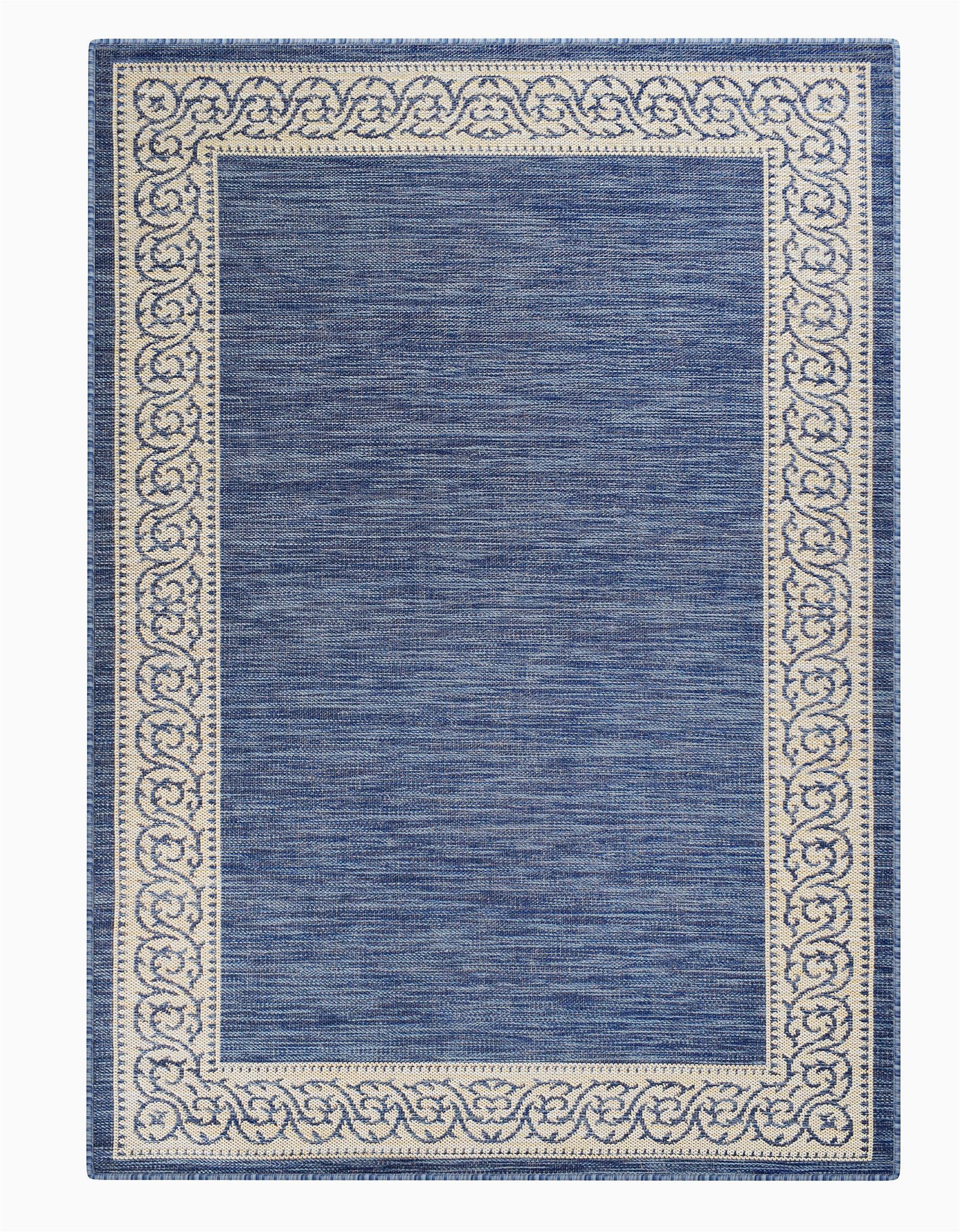 charlton home meyerwood floral shag 5 x 77 denim blue indoor outdoor area rug w002584836
