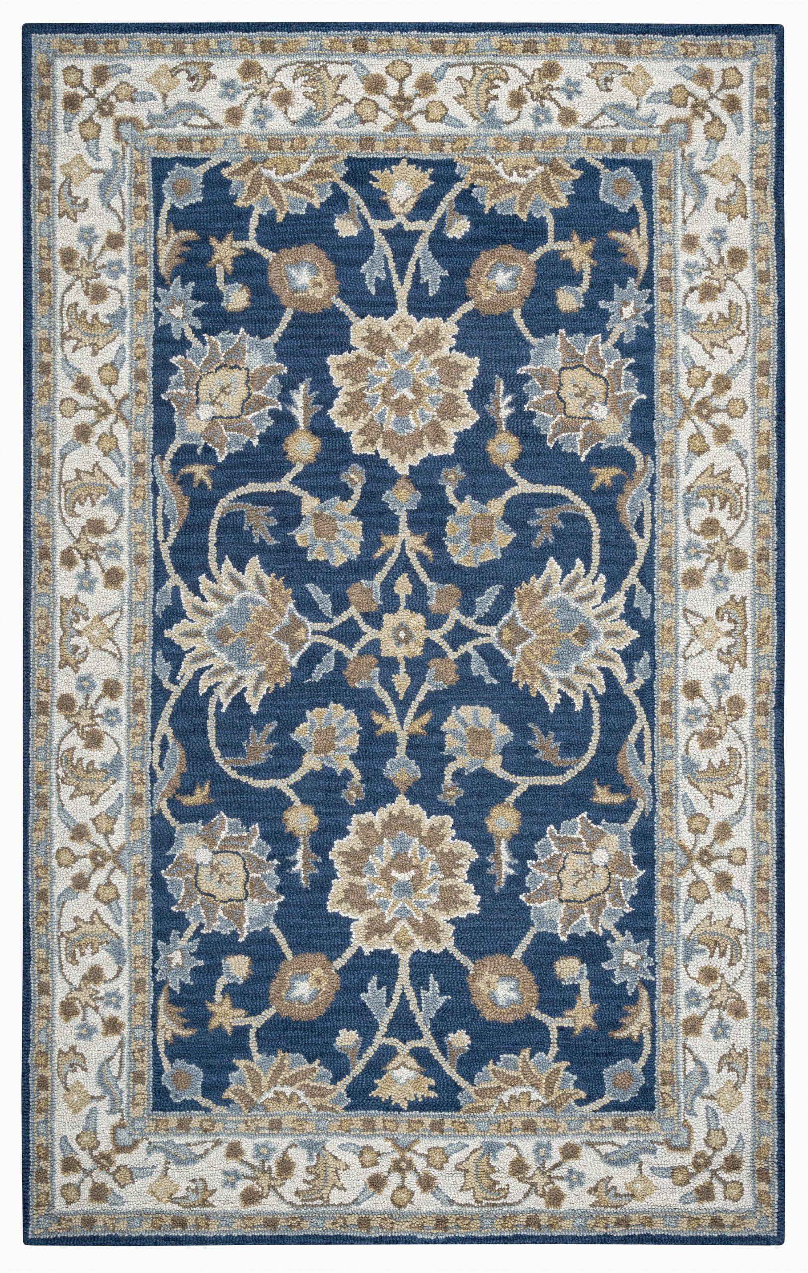 rizzy home ashlyn al2823 blue border area rug