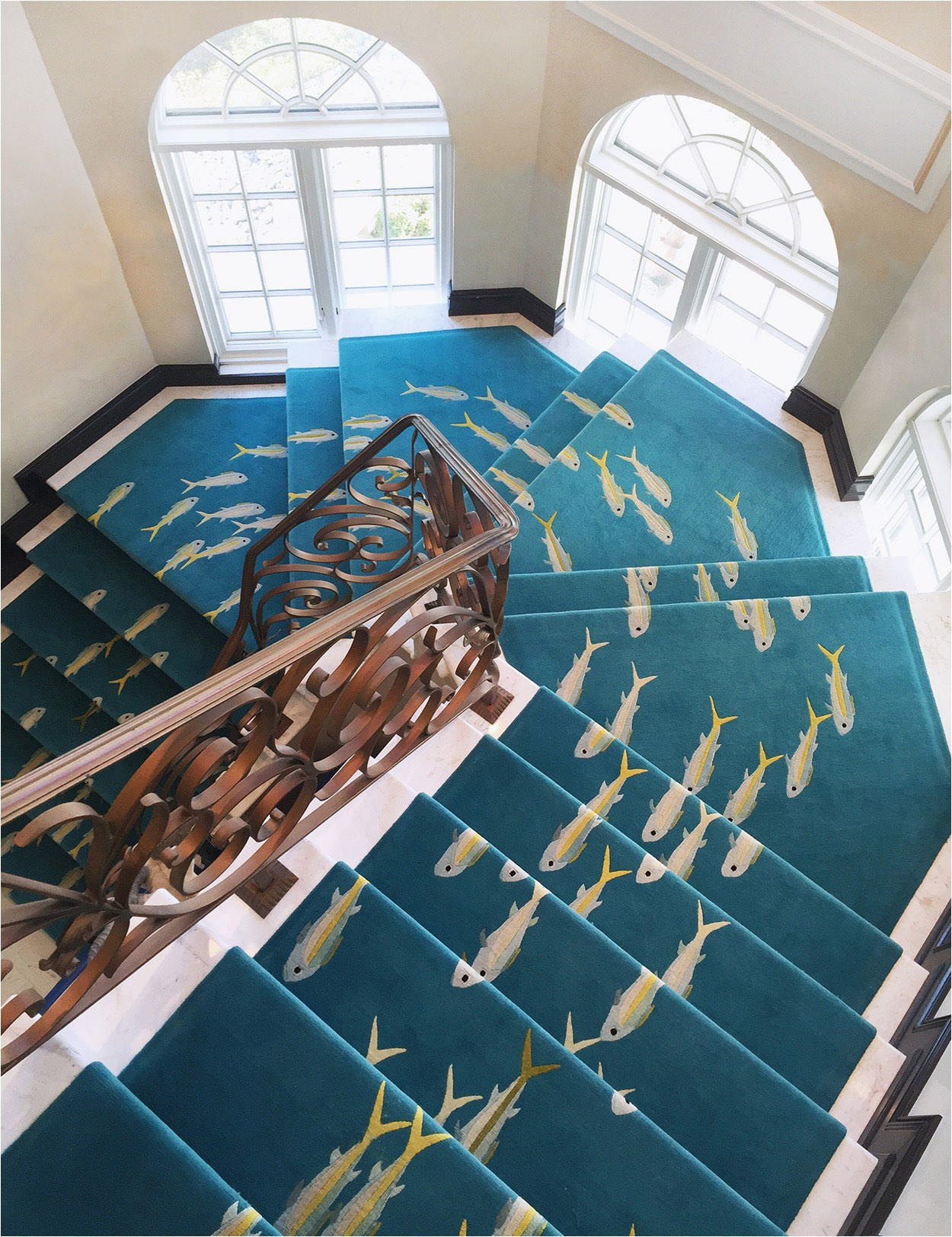 Blue Bottom Rug Company Rainbow Runners for Striking Staircases and Narrow Spaces