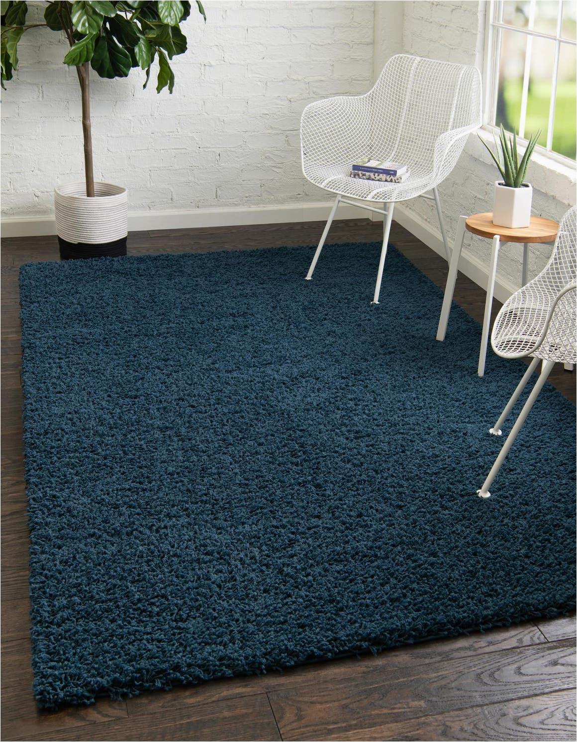 sapphire blue 8x11 solid shag area rug 6255776