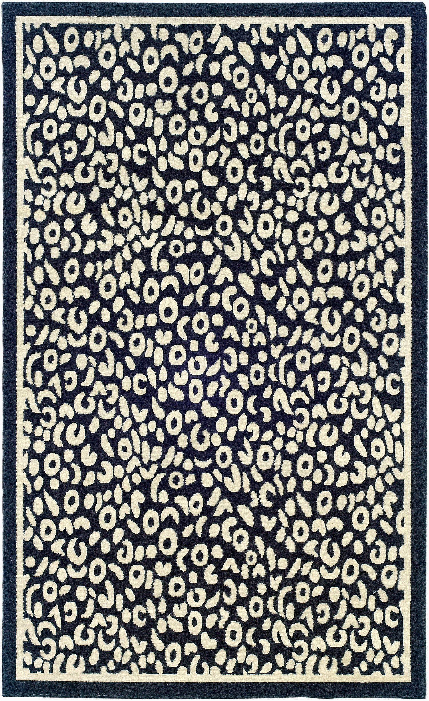 Blue Leopard Print Rug Linon Blue Animal Print Rug 2 From the Animal Print Rugs
