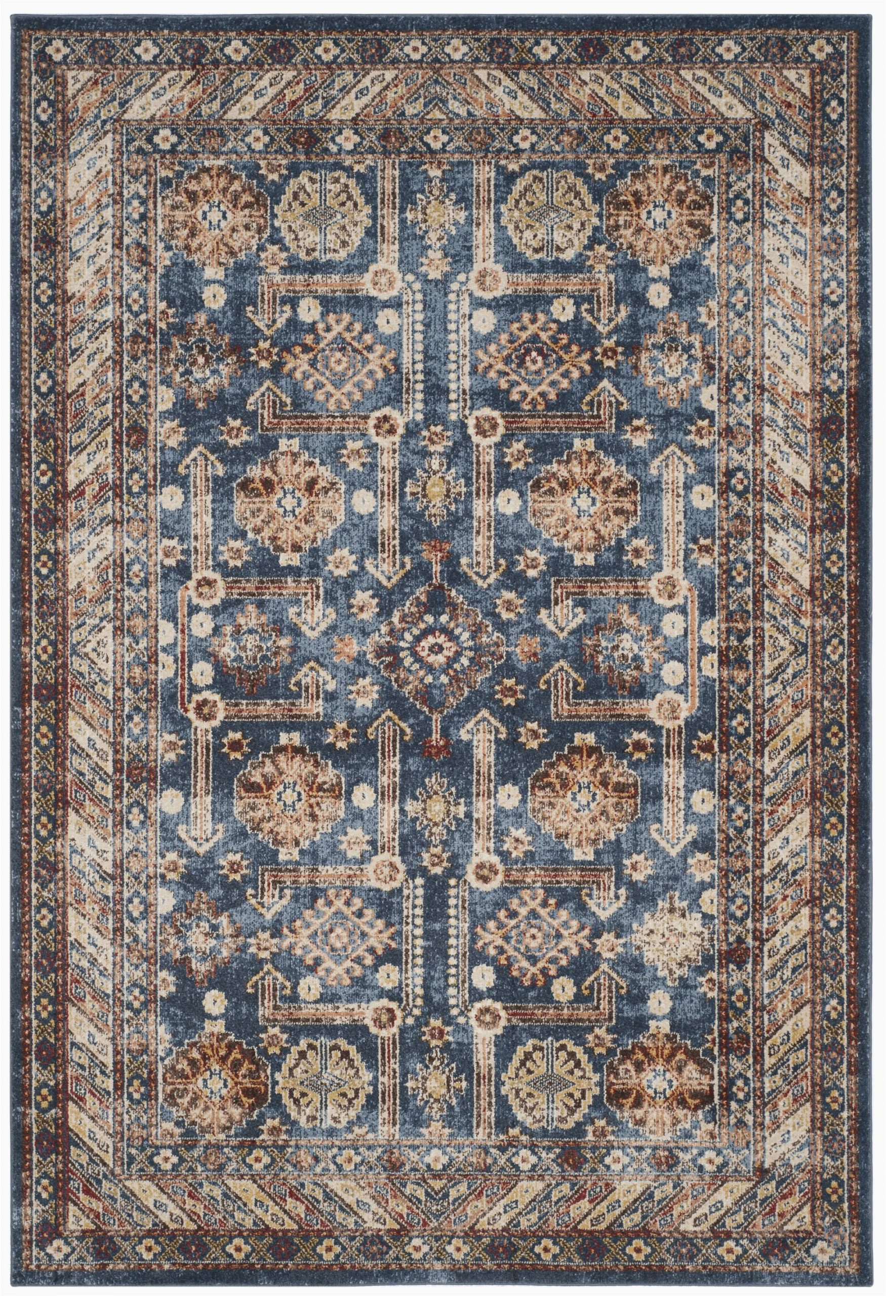 Isanotski Brown Blue area Rug isanotski Persian Inspired Brown Blue area Rug