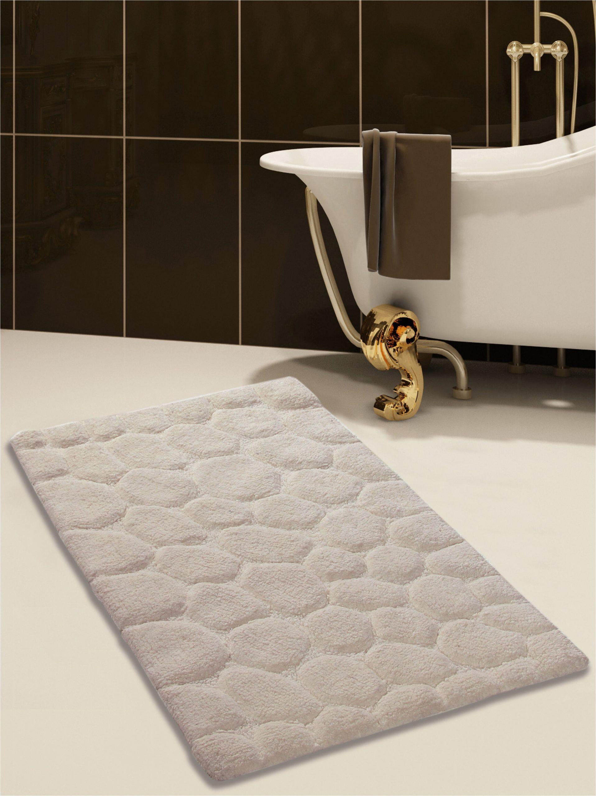 saffron fabs 100 soft rectangle cotton blend piece bath rug set safr1021