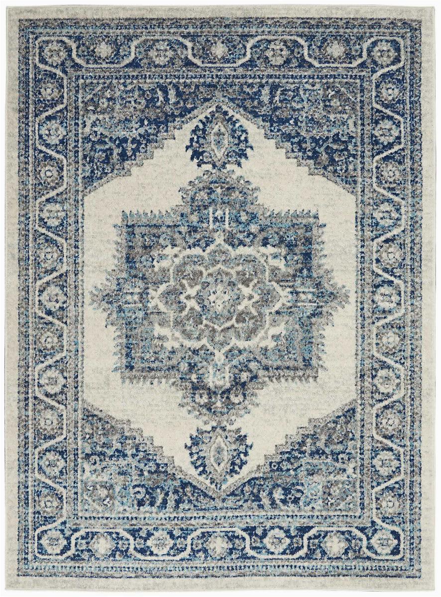 nourison persian vintage prv01 ivory blue area rugx