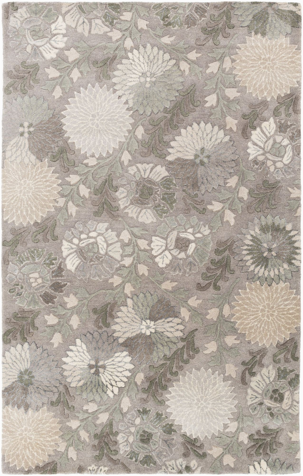 Jeannine Hand Tufted Wool Gray Ivory area Rug Keith Hand Tufted Gray area Rug