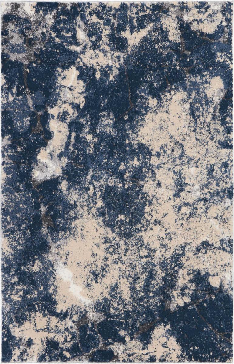 kathy ireland heritage ki355 beige blue area rugx