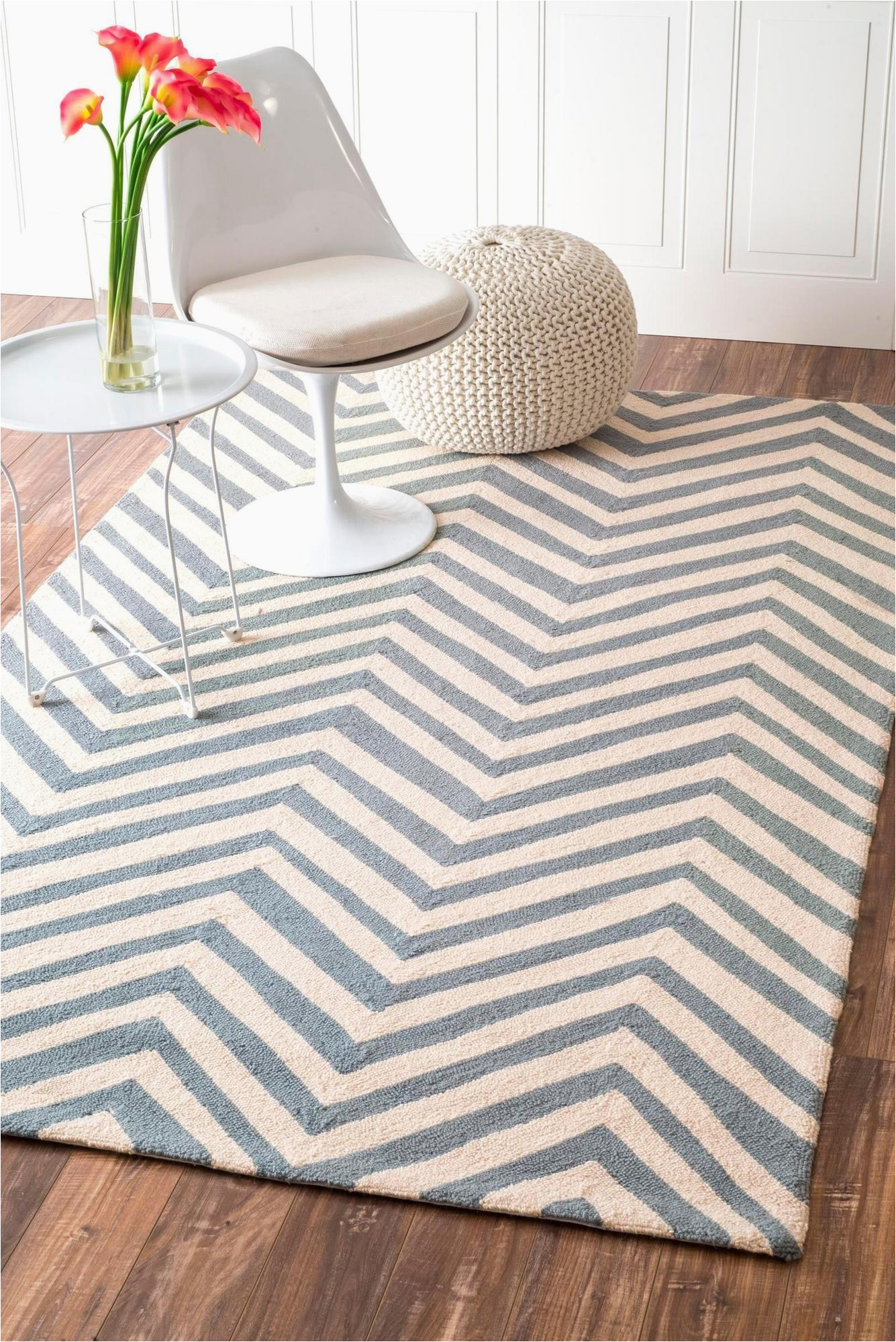 Light Blue Chevron Rug 6 X 9 Hand Hooked Chevron area Rug Light Blue Ru