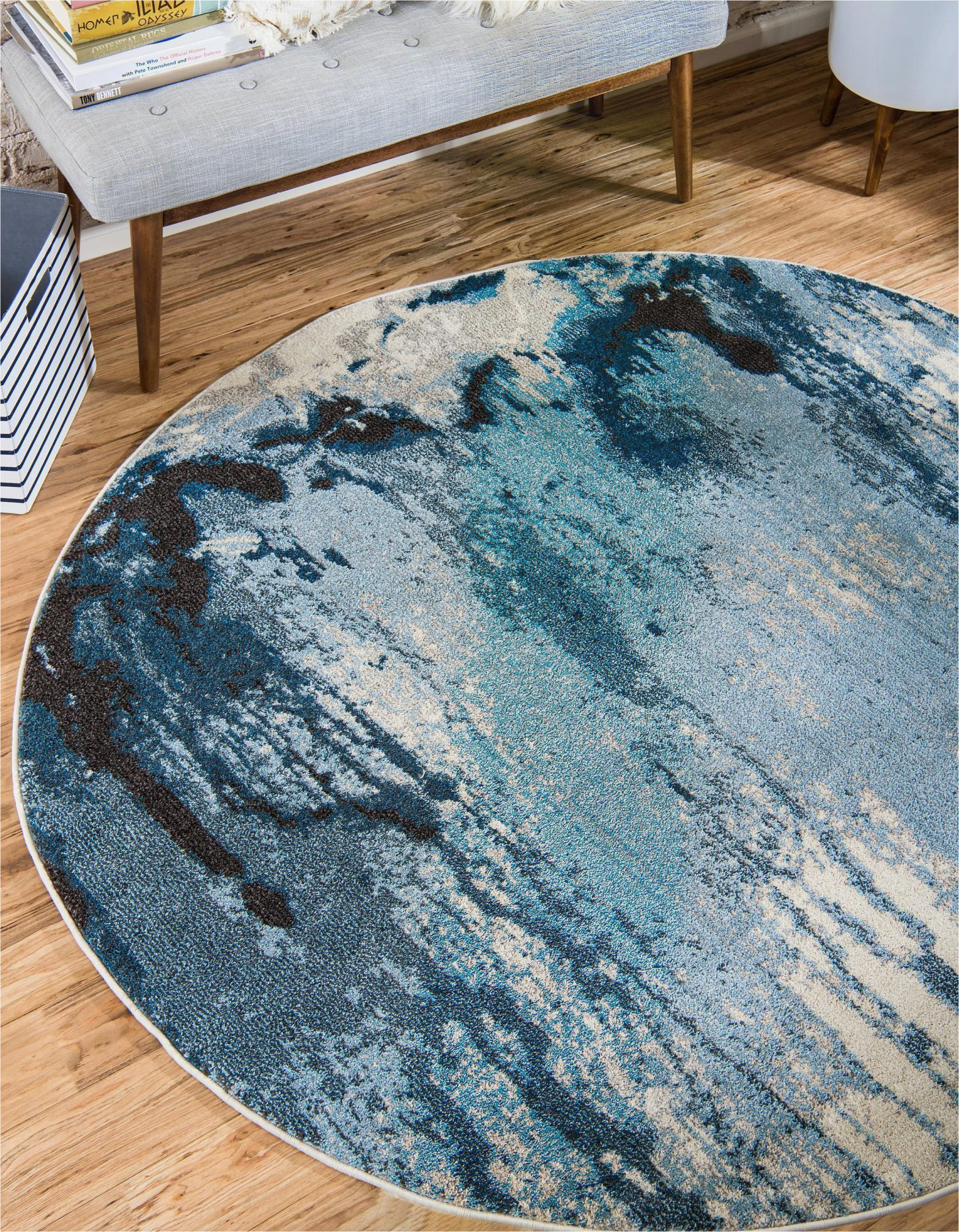 Light Blue Circle Rug Light Blue 6 X 6 Casablanca Round Rug