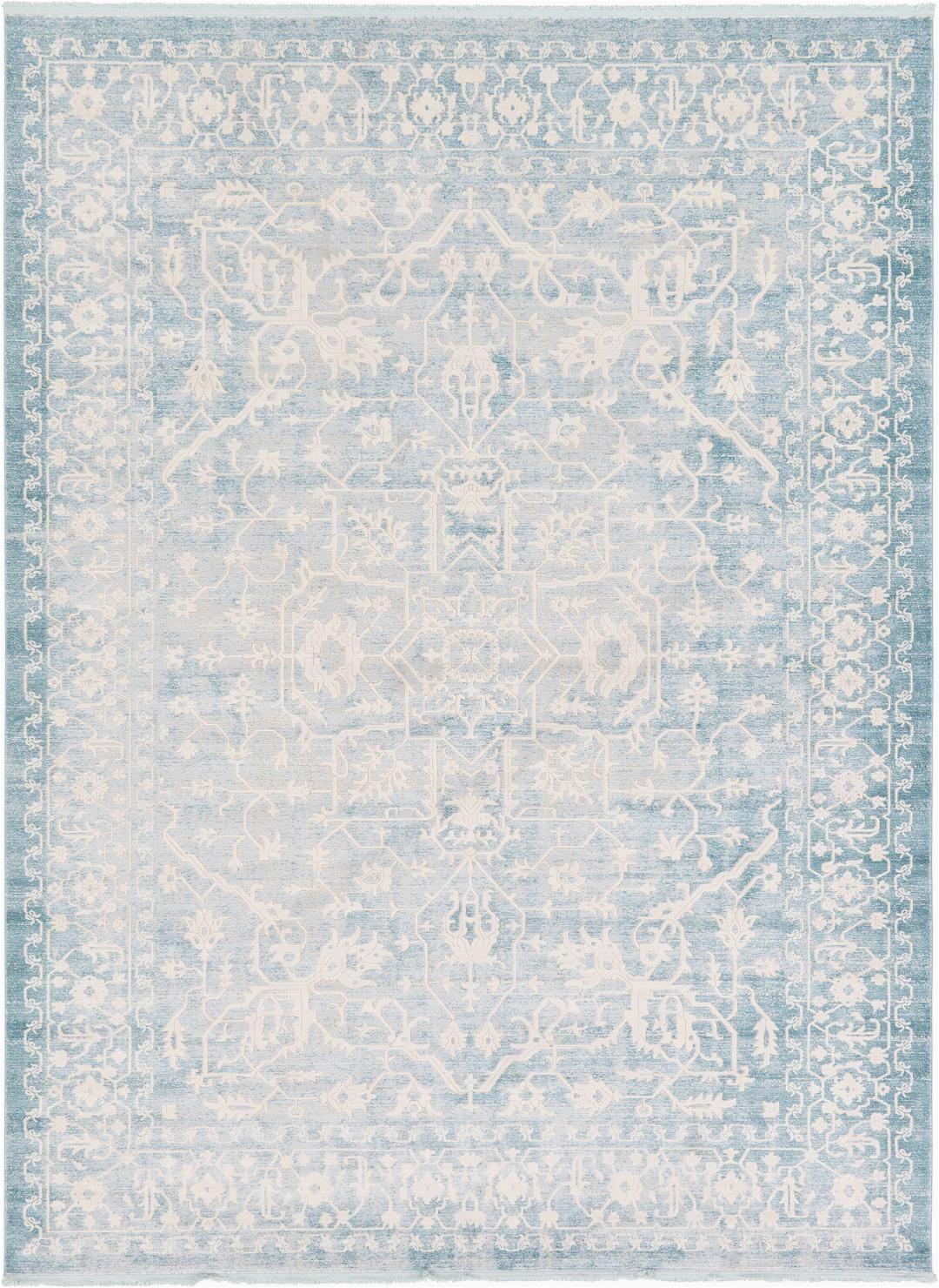 Light Blue Rug 9x12 Light Blue 9 X 12 New Vintage Rug area Rugs Esalerugs