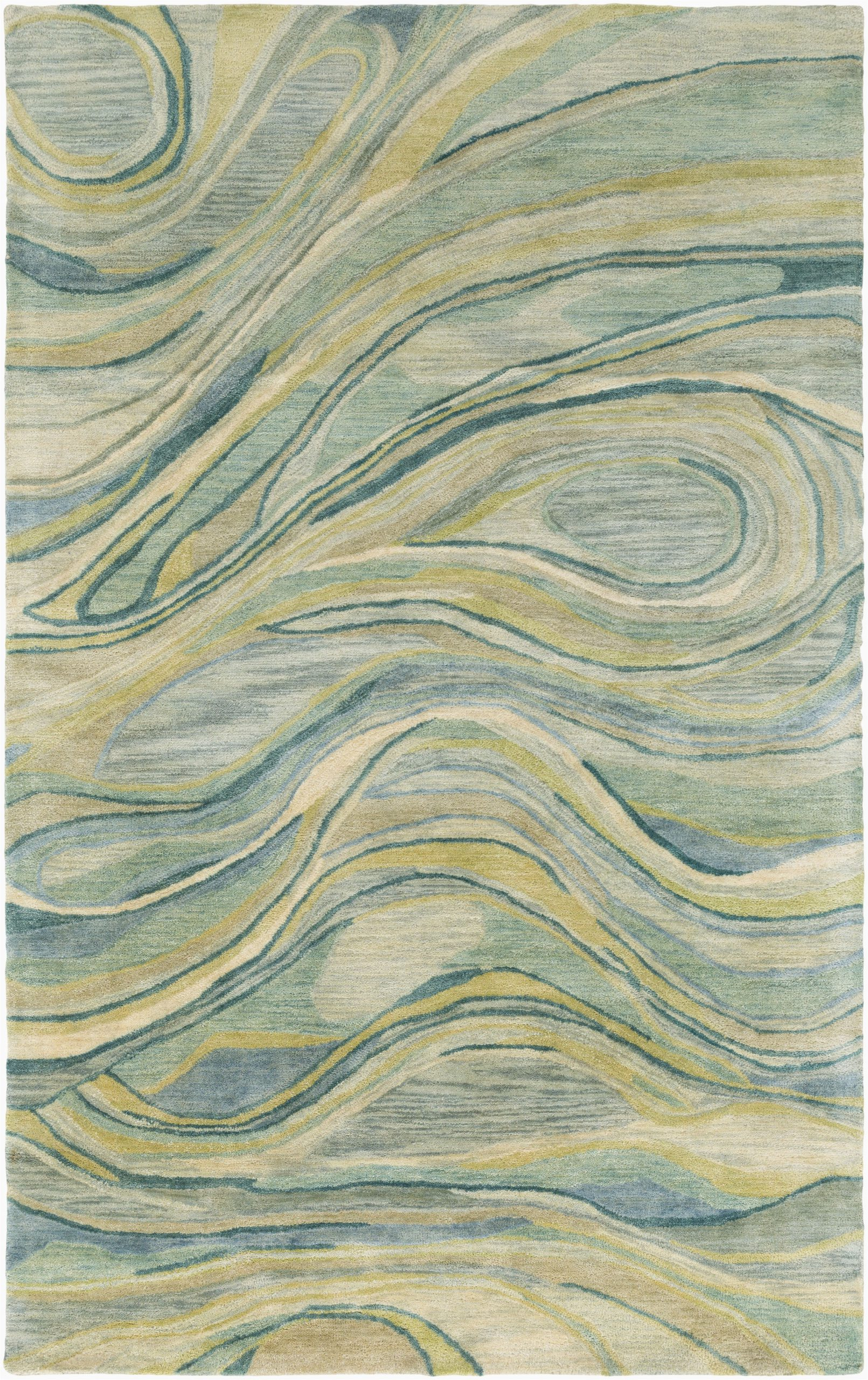 Mint Green and Brown area Rug A Flowy Blend Of soothing Sage Mint Lime Emerald and