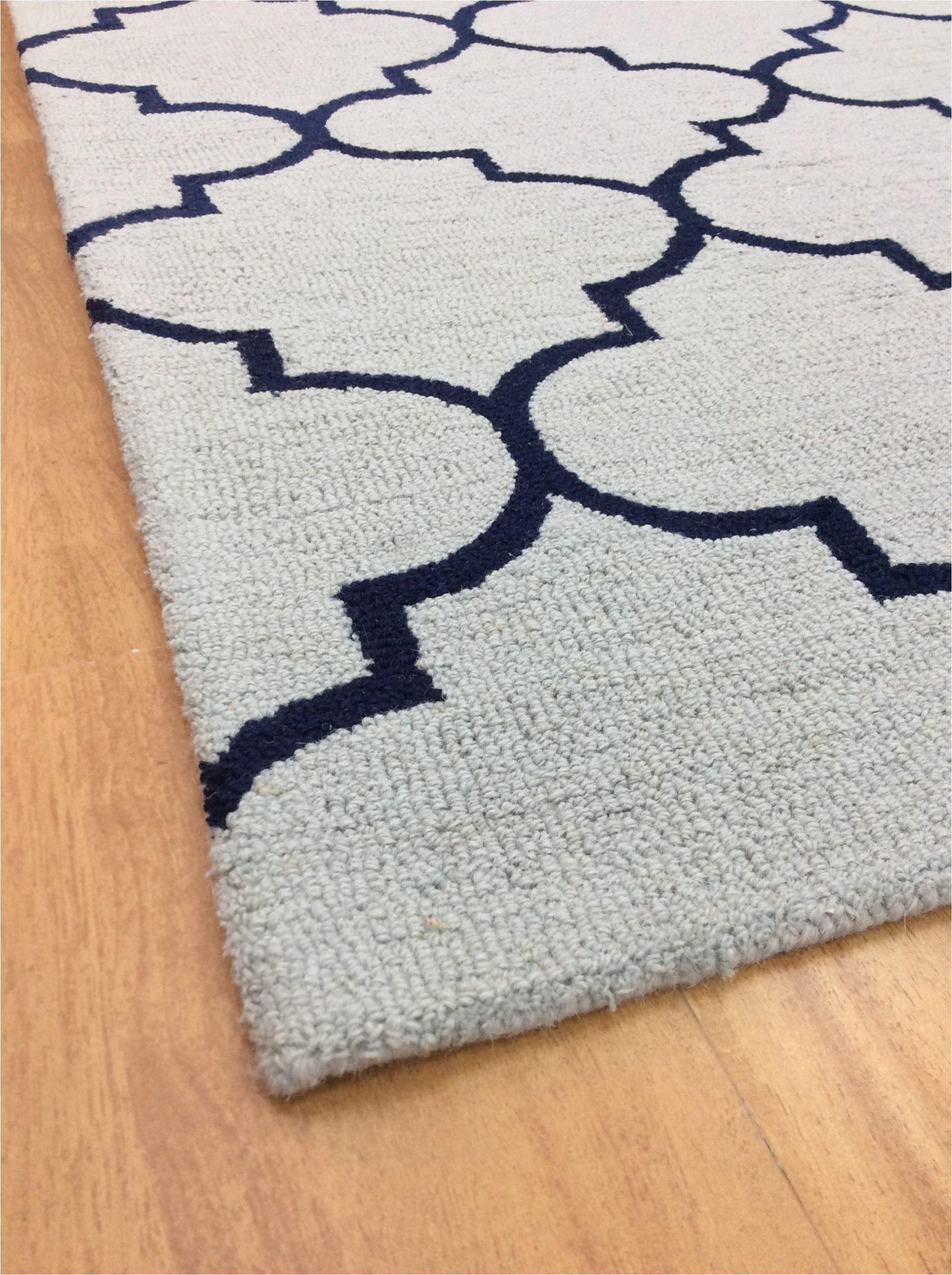 Modern Navy Blue Rug Handmade Wool Modern L Blue Navy Blue 5×8 Lt1311 area Rug