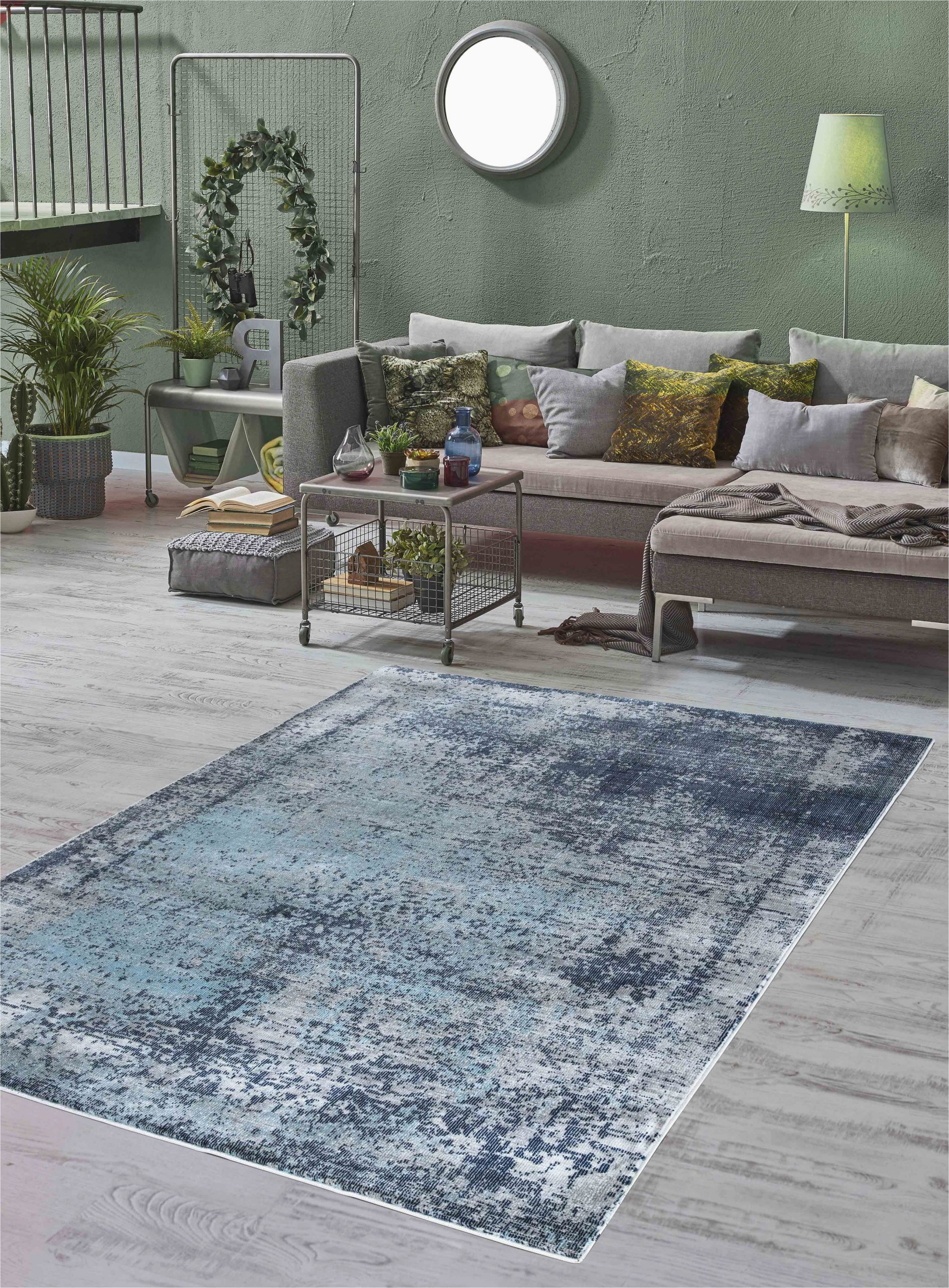 Modern Navy Blue Rug Mod Arte Mirage Collection area Rug Modern & Contemporary Style Abstract soft & Plush Navy Blue Gray