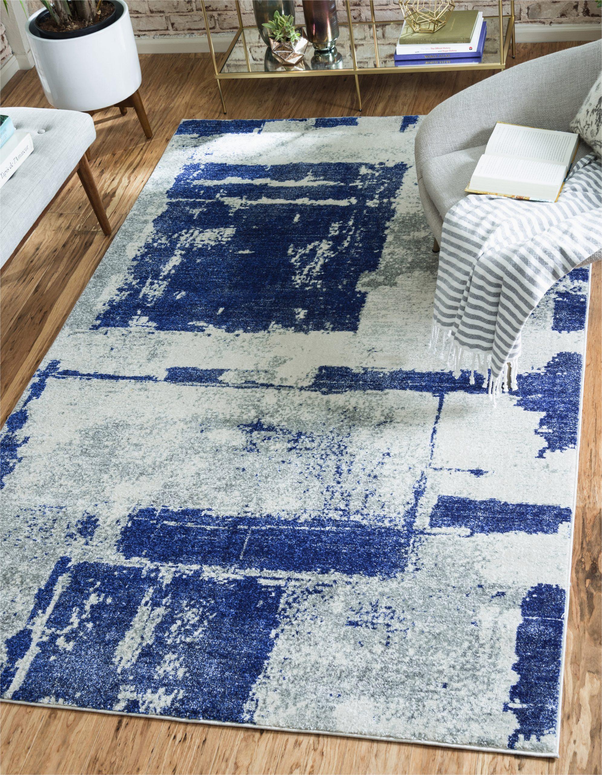 madill navy blue area rug