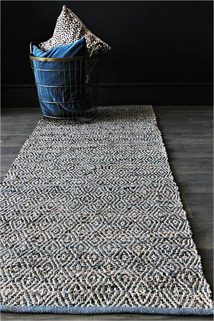 Navy Blue Geometric Rug Geometric Navy Blue Leather Rug Mad About the House