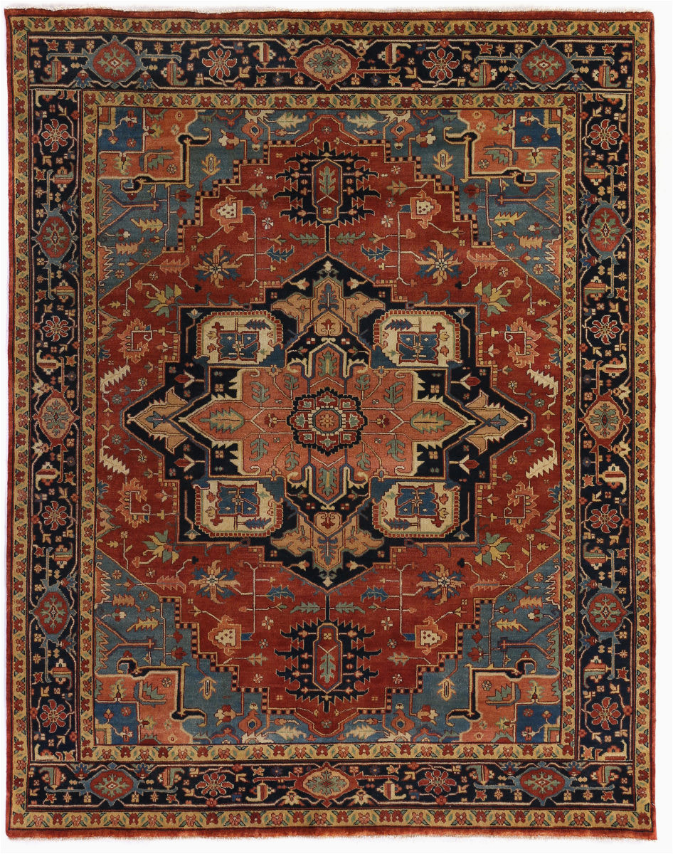 exquisite rugs serapi 9971 red blue area rugx