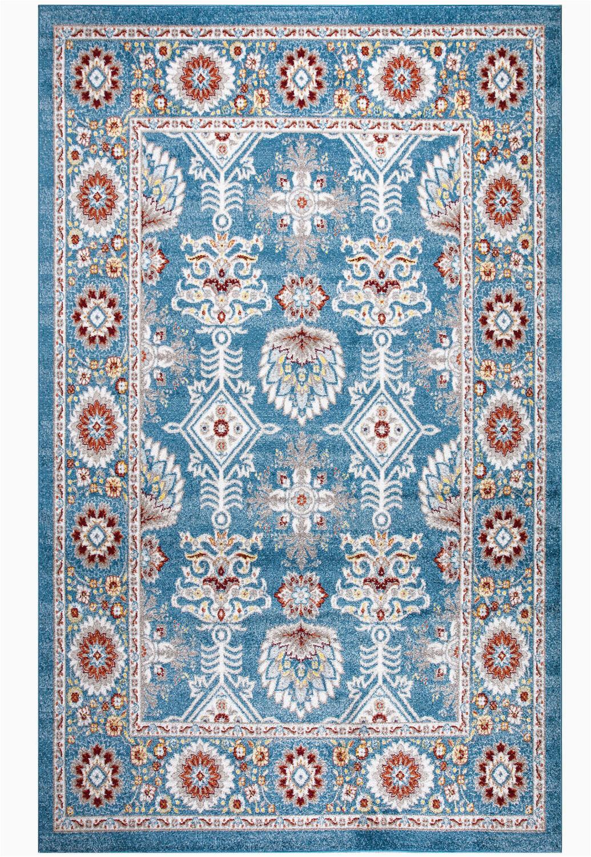 layela oriental bluewhitered area rug
