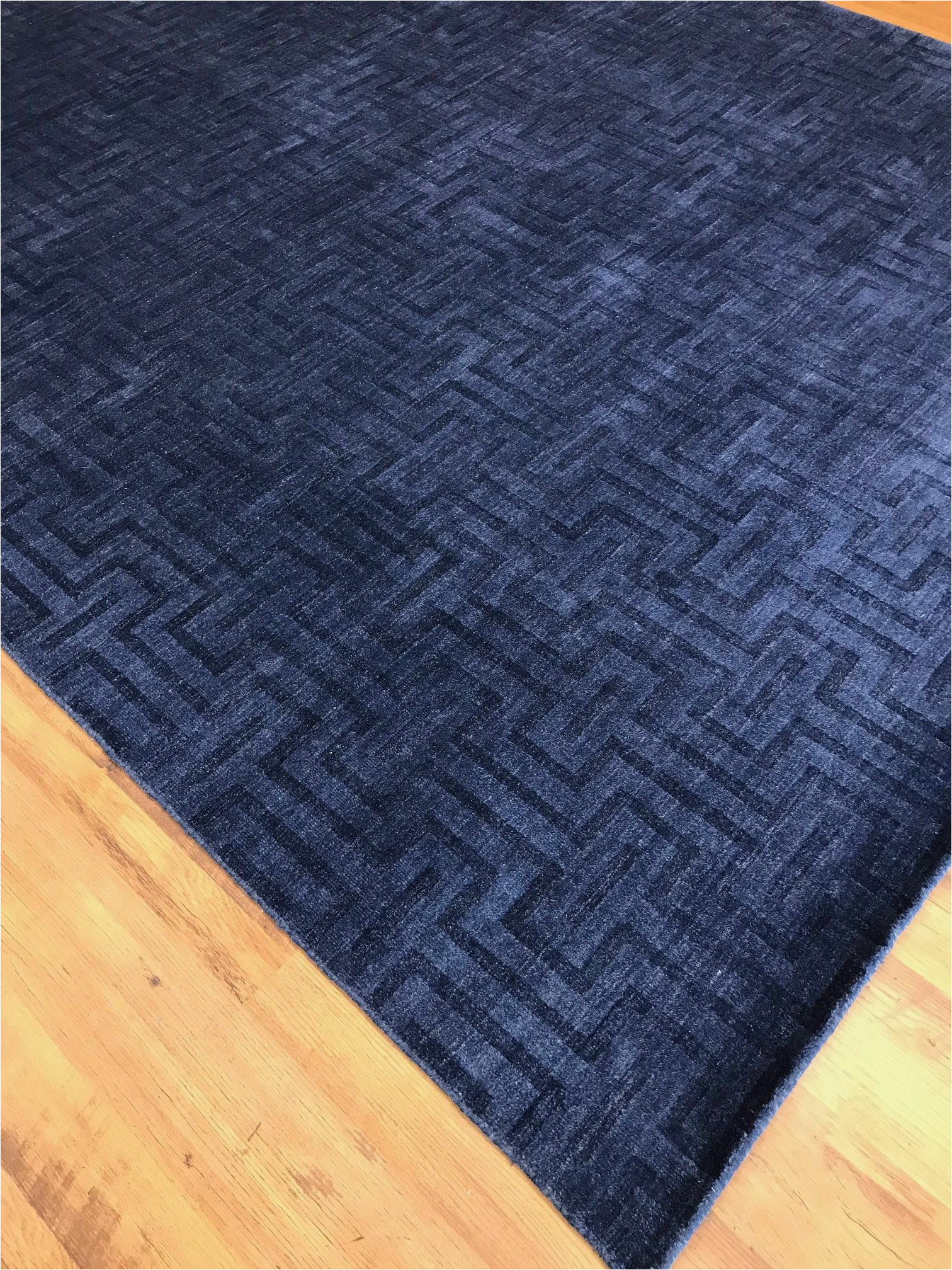 royal blue modern area rug 11114 rotated