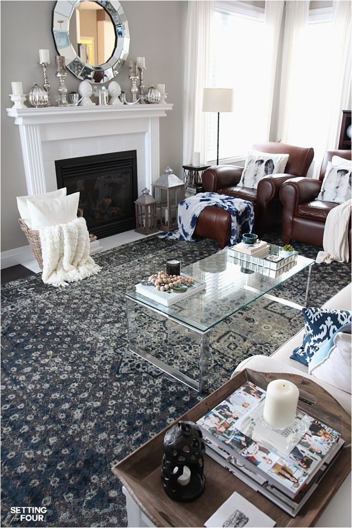 Rug with Blue Accents New Indigo Blue Rugs In Our Living Room and Kitchen Living