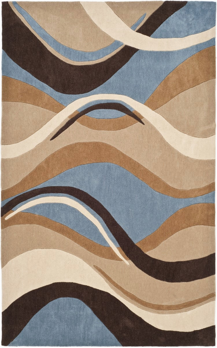 Rugs Brown and Blue Safavieh Modern Art Mda617a Blue Brown area Rug Last Chance